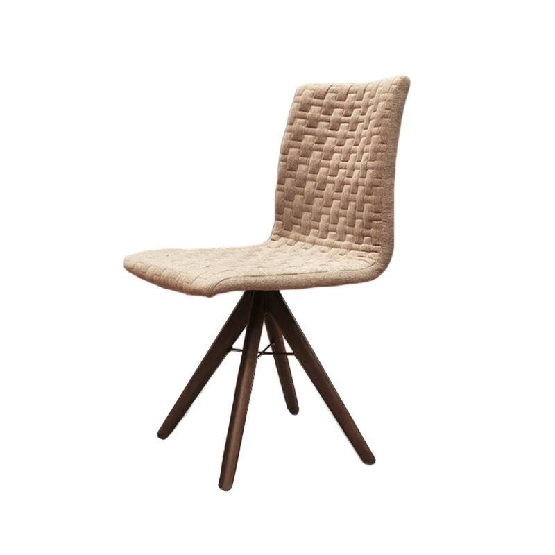 Cadeira-Sun-Linho-Marrom-Mescla-Base-Cone-Giratoria---42453