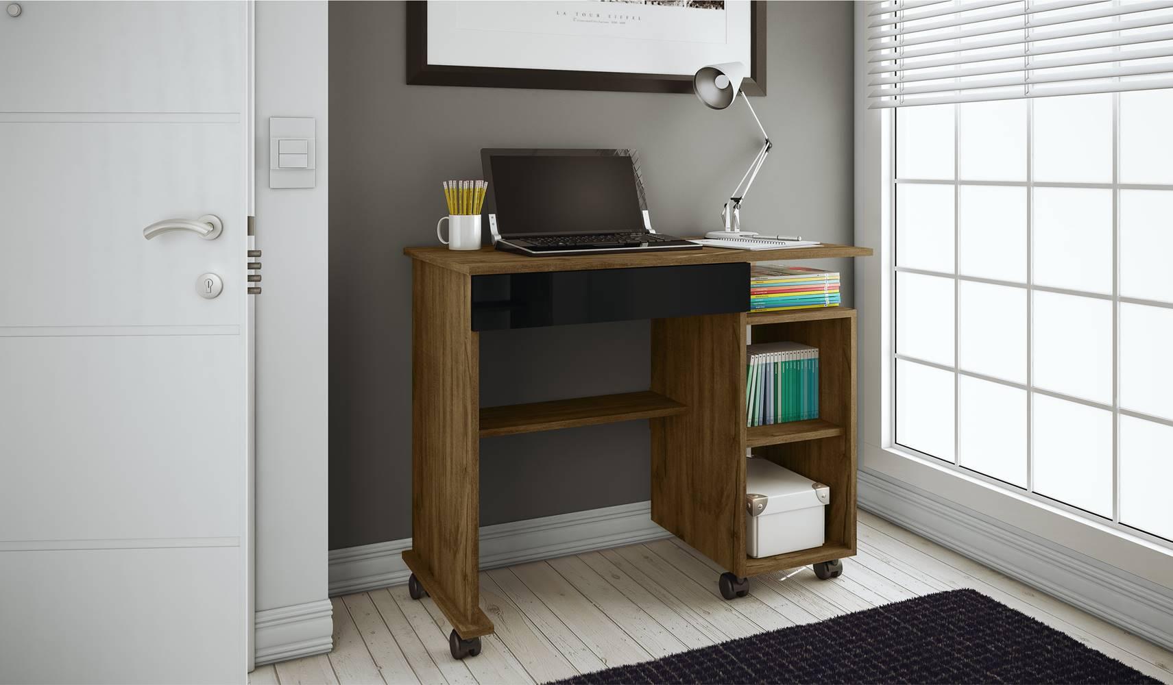 Mesa para Computador Practice cor Nobre com Preto - 19981