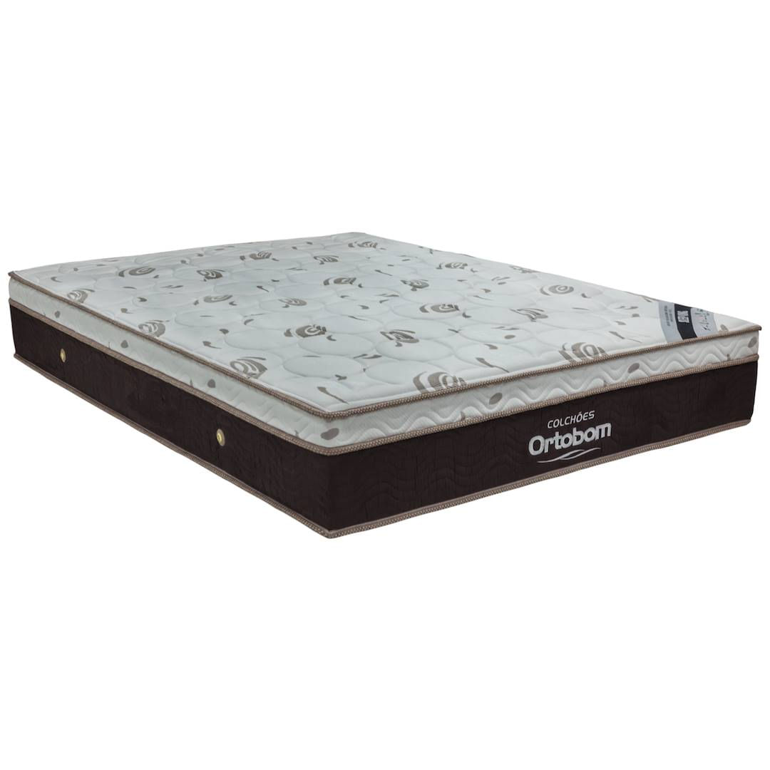 Colchao Sleepking Casal 138 cm (LARG) Marrom e Branco - 42520