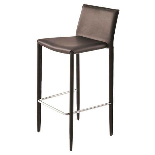 Banqueta-Amanda-6606-PVC-Marrom-Estrutura-em-Metal