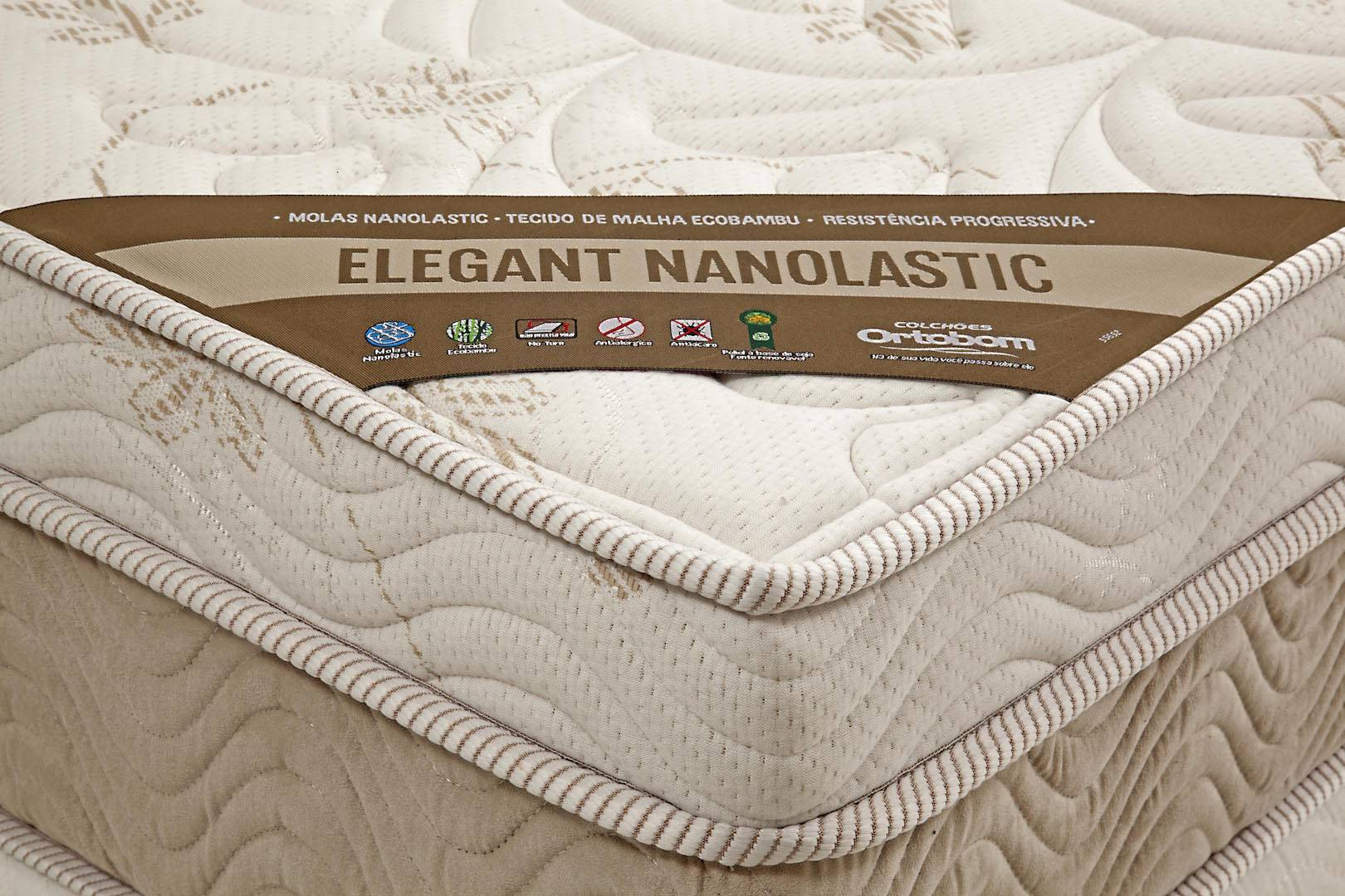 Colchao Elegant Nanolastic Queen 158 cm (LARG) Creme e Branco - 42566