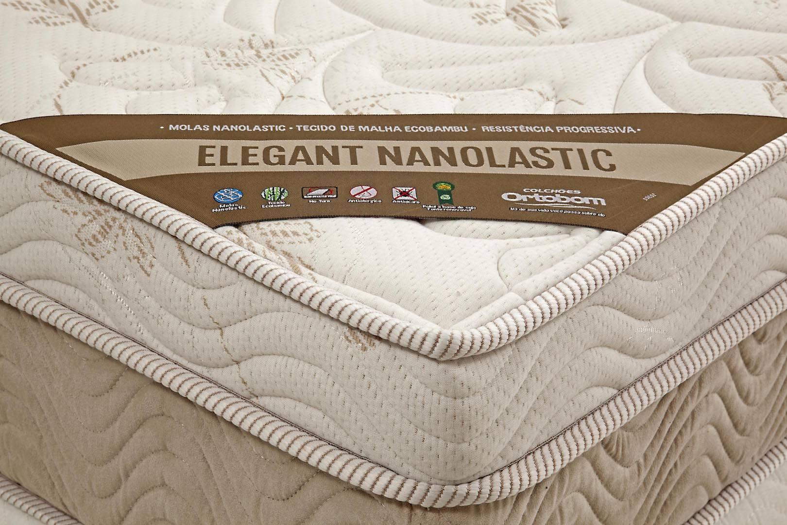 Colchao Elegant Nanolastic King 186 cm (LARG) Creme e Branco - 42567