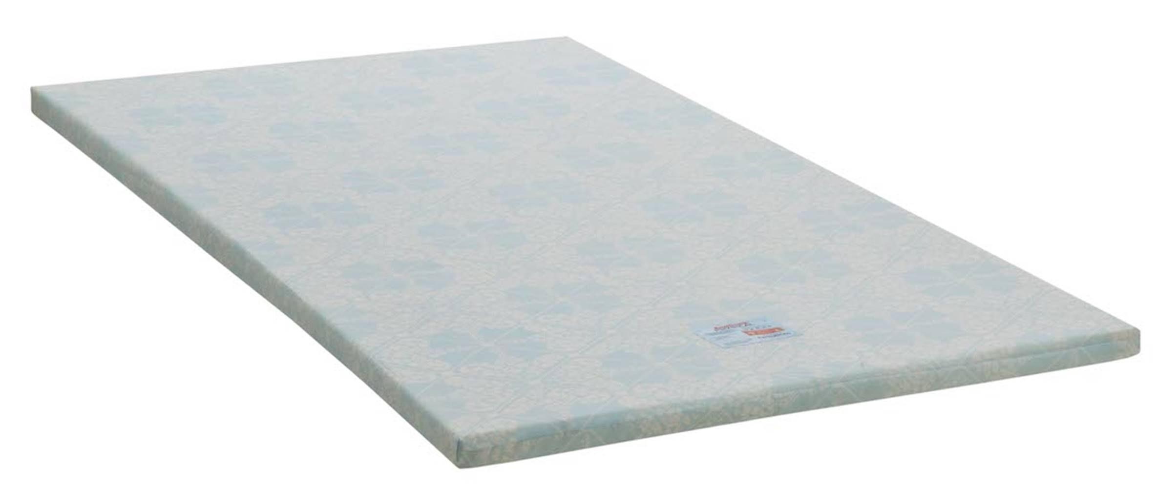 Colchonete Physical Baixo Solteiro 88 cm (LARG) Branco e Azul - 42948