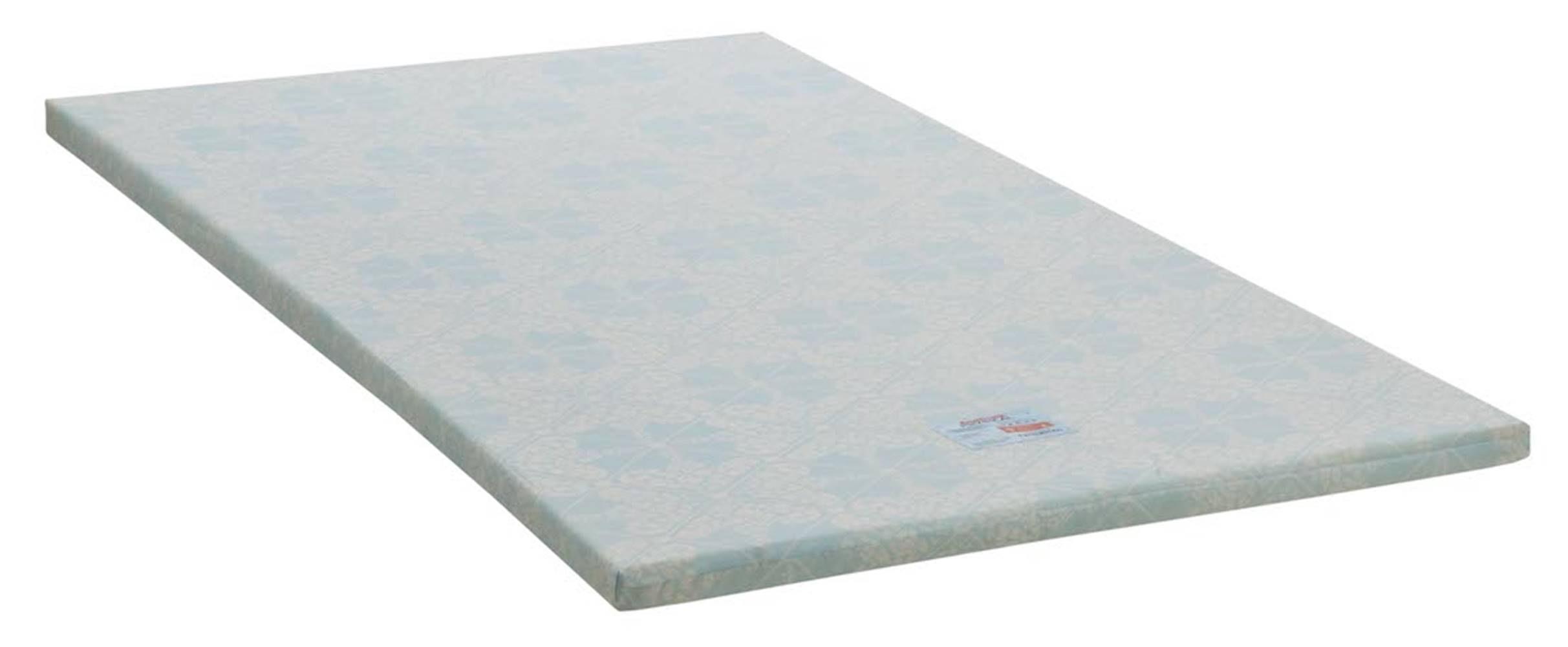 Colchonete Physical Baixo Solteiro 78 cm (LARG) Branco e Azul - 42946