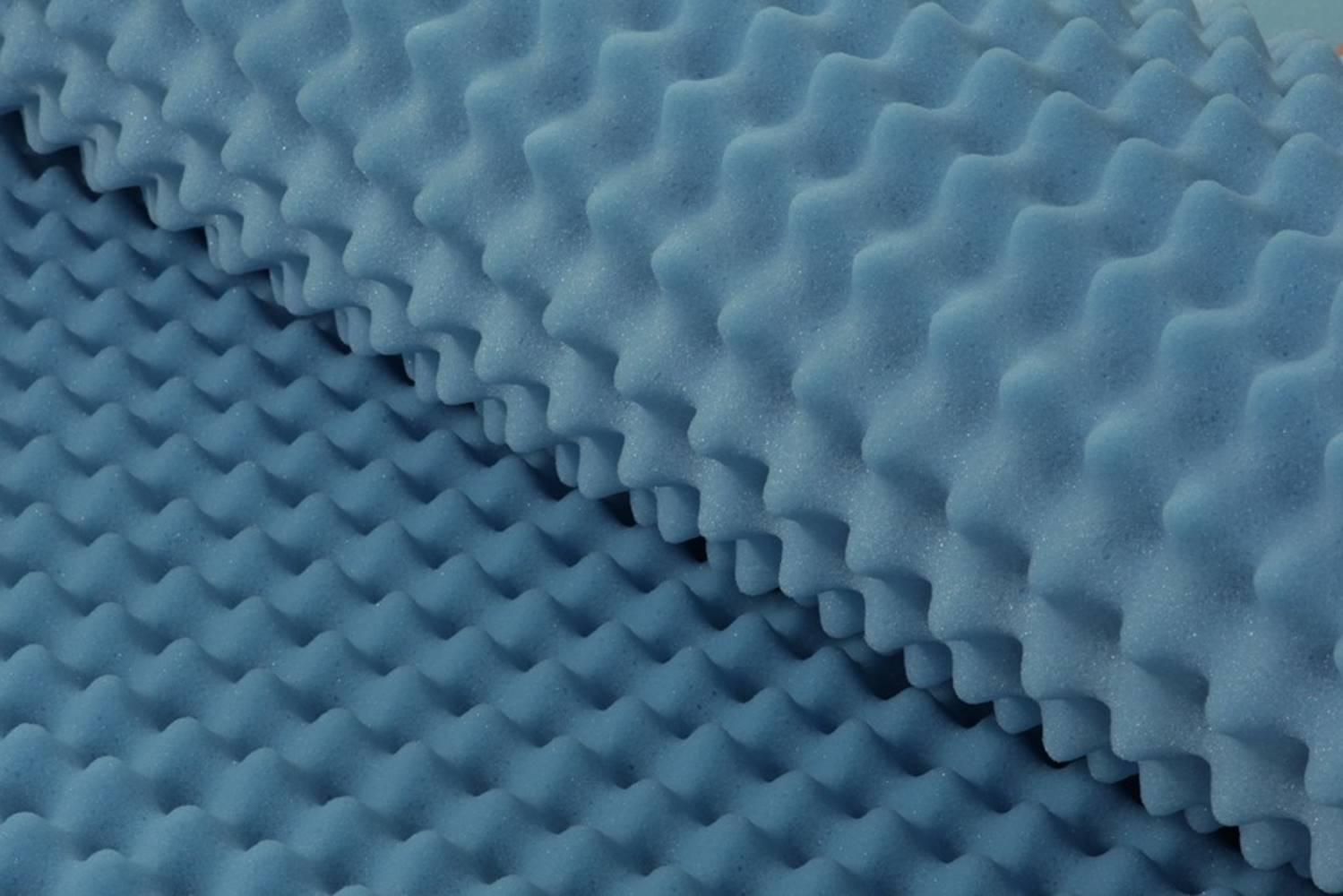 Colchonete Alveolado D28 Solteiro 80 cm (LARG) Azul - 42983