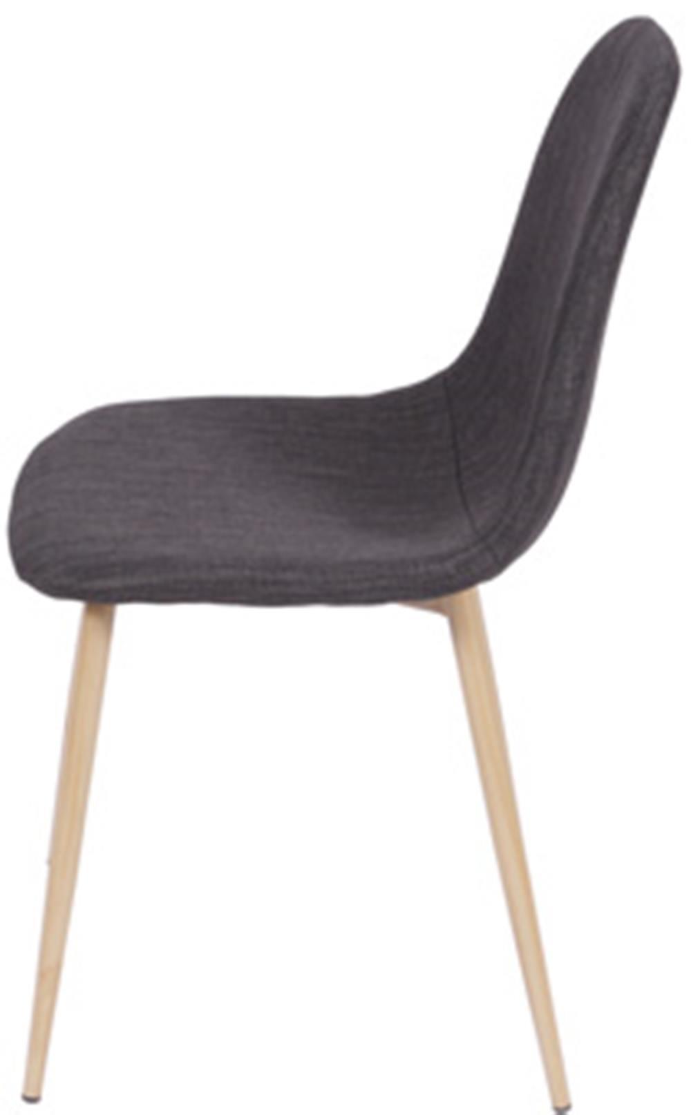 Cadeira Robin Linho Grafite Base de Metal com Pintura de Madeira - 43059