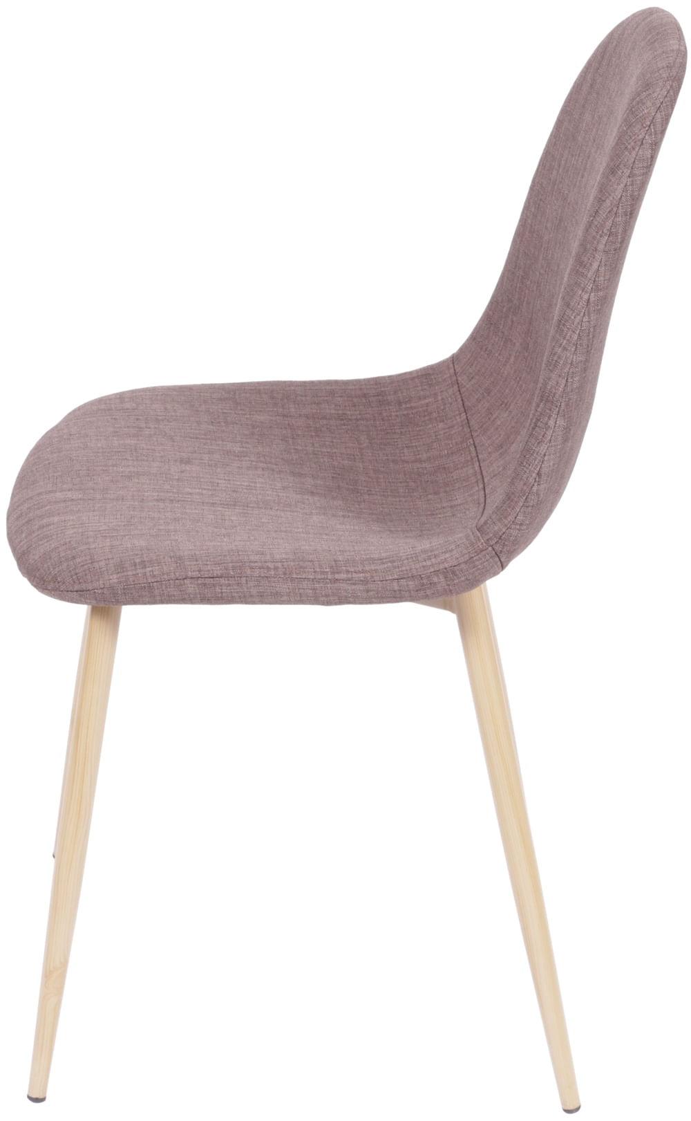 Cadeira Robin Linho Marrom Base de Metal com Pintura de Madeira - 43061
