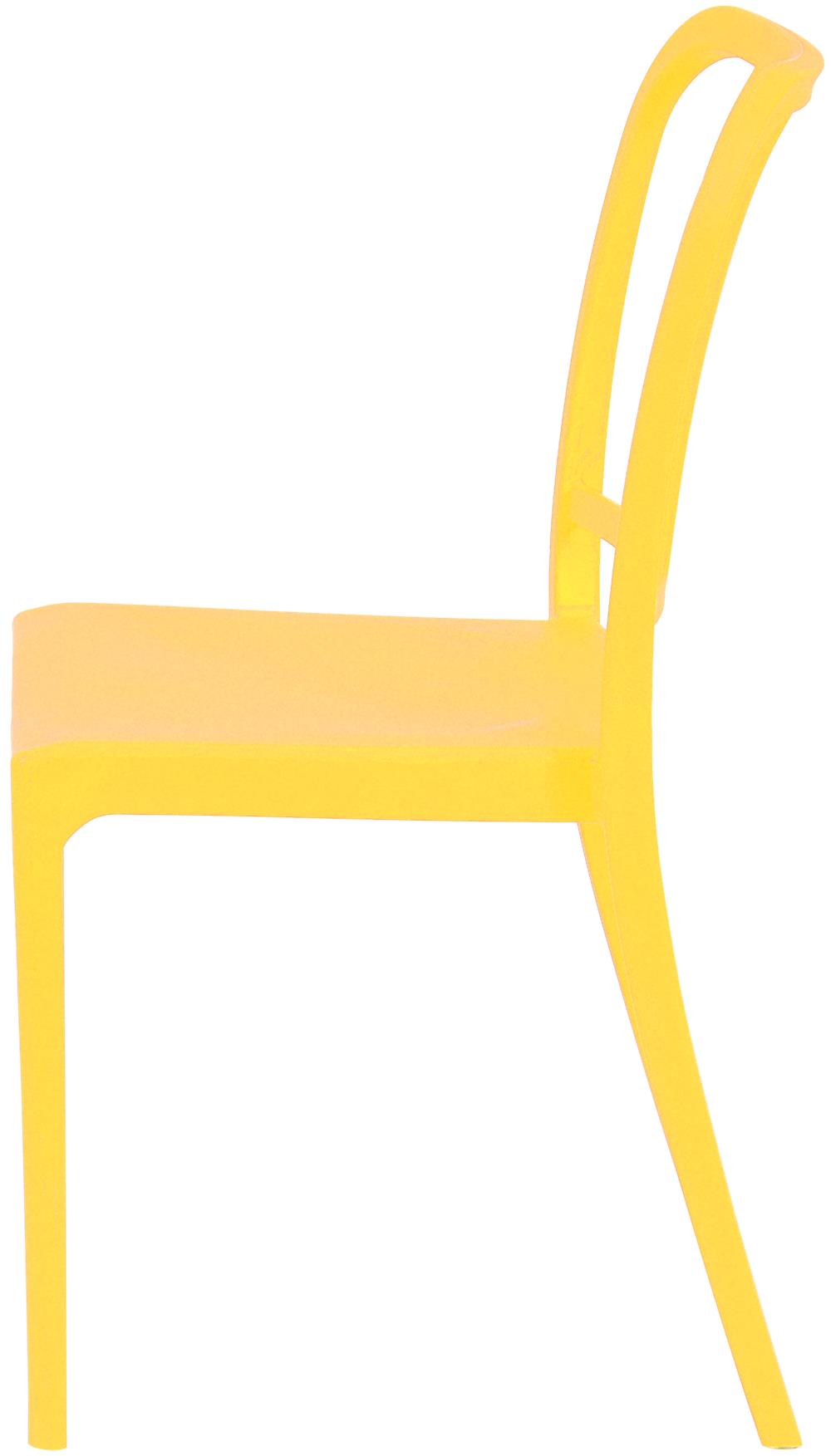 Cadeira Navy Polipropileno Amarela  - 43094