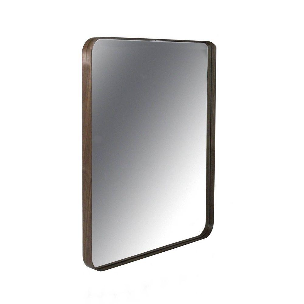 69e3f3cb68c Espelho Retangular Pereque com Moldura Lamina Nogueira 80 cm (ALT) - 43503  - SunHouse