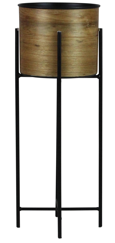 Cachepot Popis Medio Laminado Louro Freijo Base Aco 58 cm (ALT) - 43526