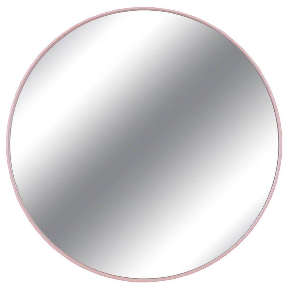 5b7efe39a Espelho Redondo Lelis cor Rosa 75 cm (LARG) - 43537 - SunHouse