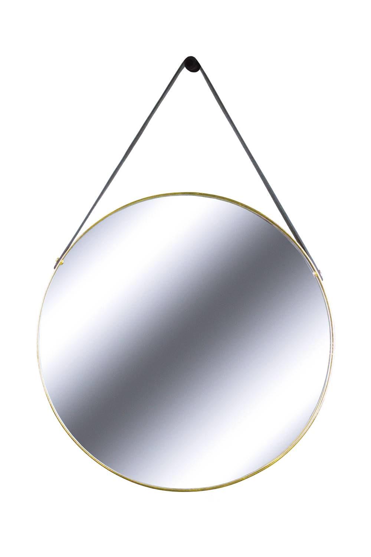 Espelho Redis Moldura Banhada cor Dourado 60 cm (LARG) - 43550