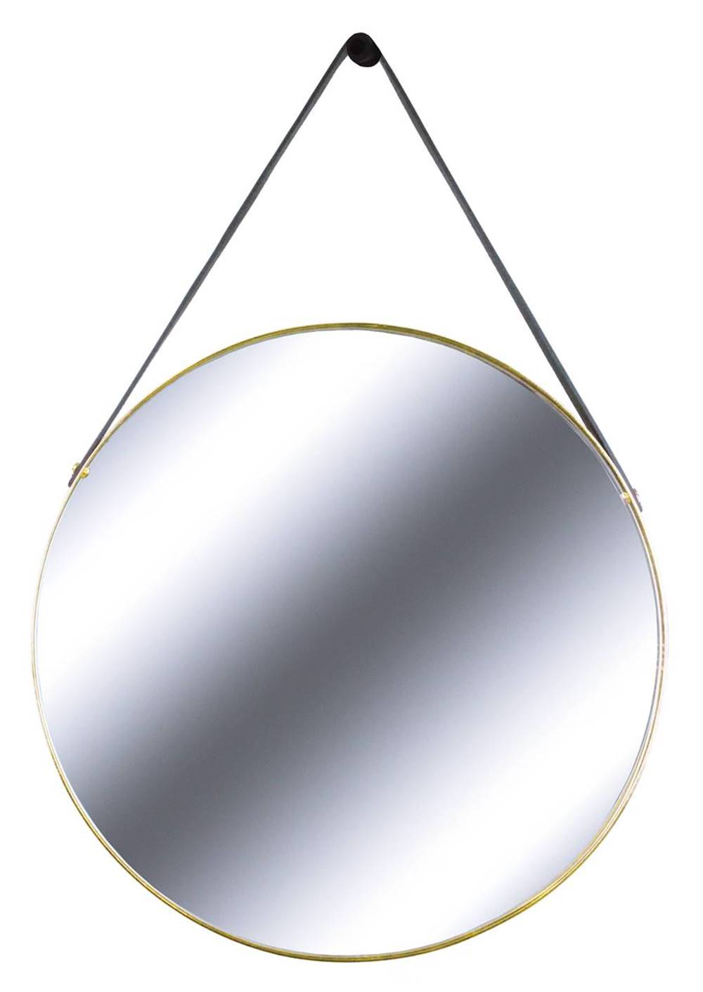 Espelho Redis Moldura Banhada cor Dourado 75 cm (LARG) - 43551