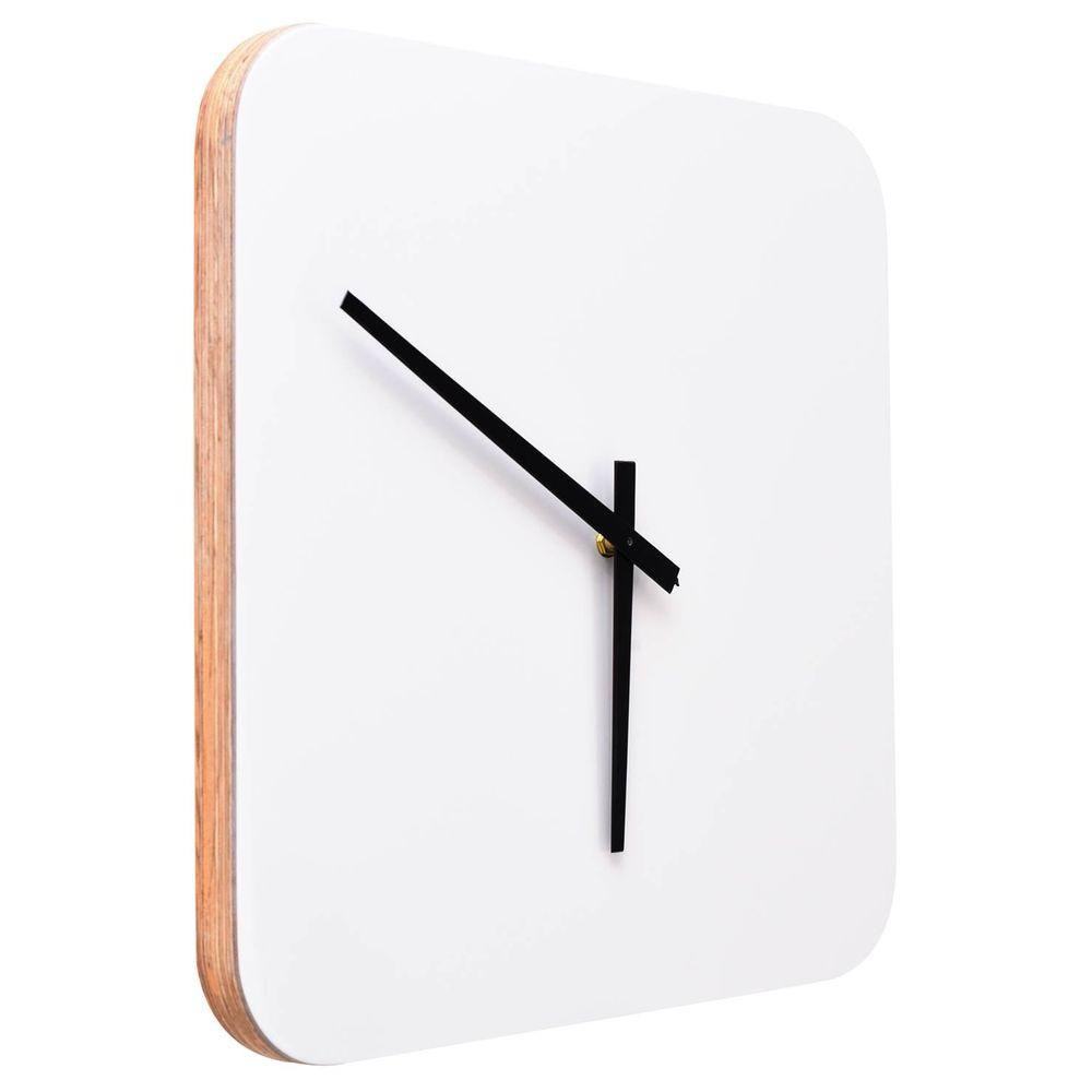 8a48aed16e4 Relogio Tabus Quadrado cor Branco Laca 40 cm (LARG) - 43566 - SunHouse