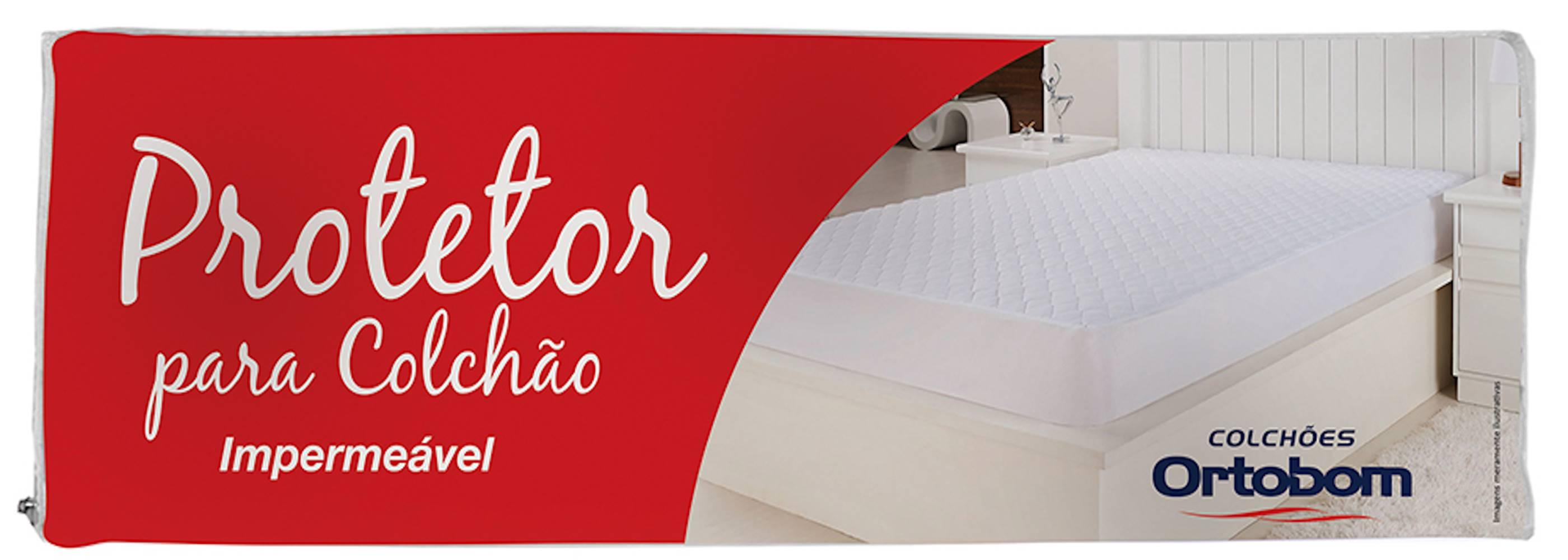 Protetor para Colchao cor Branco Solteiro 90 cm (LARG) - 43584