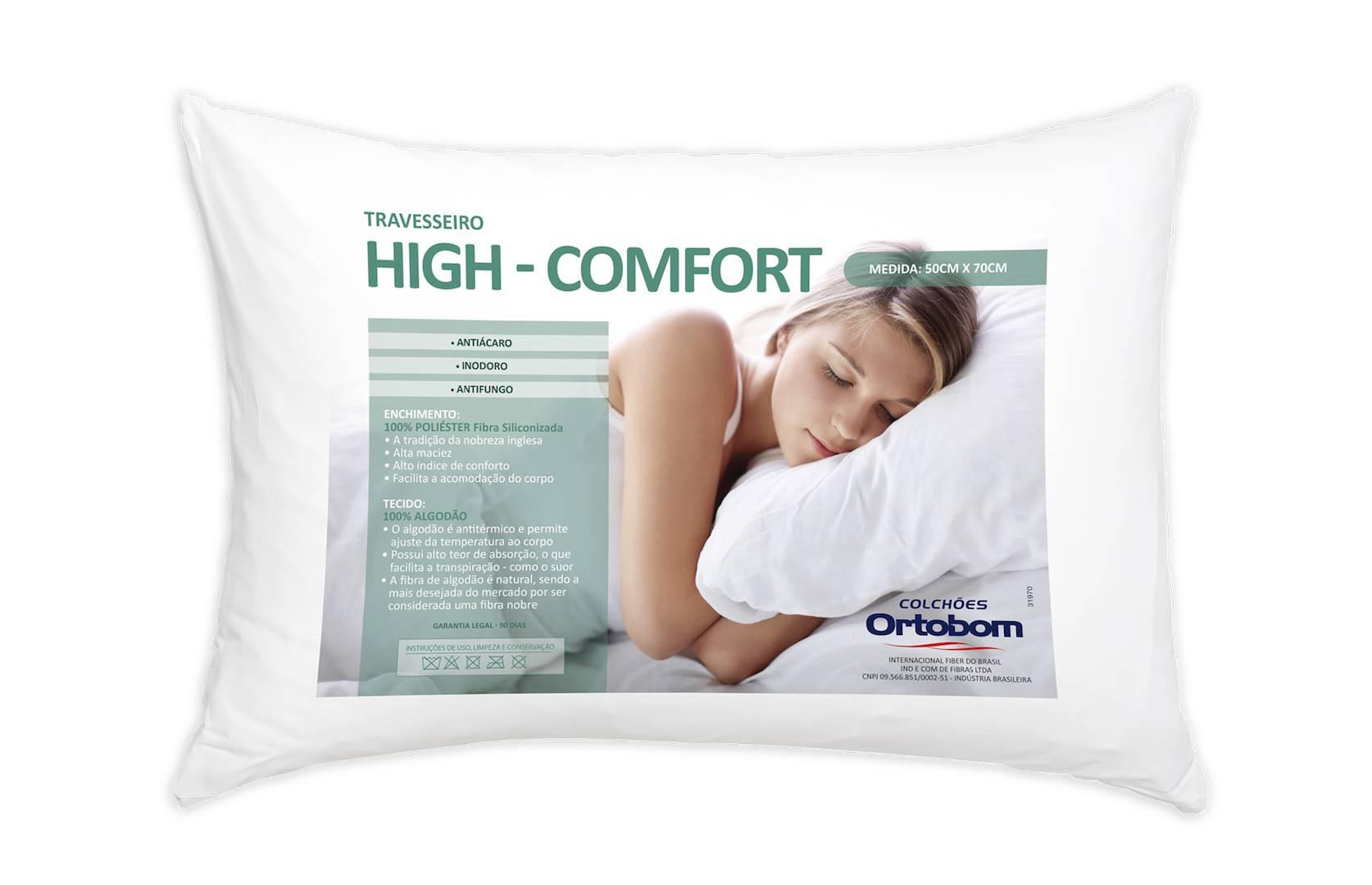 Travesseiro Hi Confort 140 Fios cor Branco - 43604