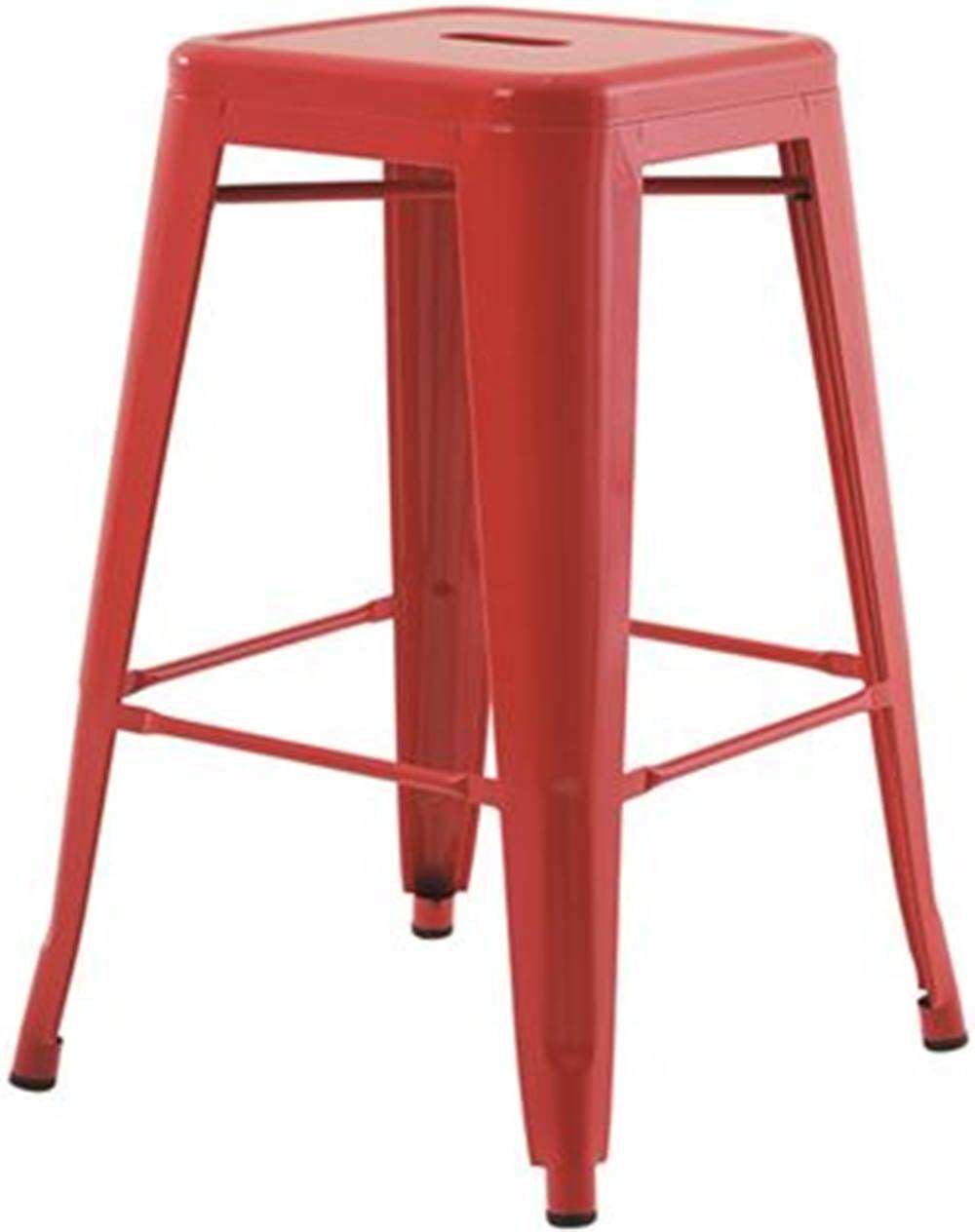 Banqueta Iron Medio  Vermelho 61 cm (ALT) - 43429