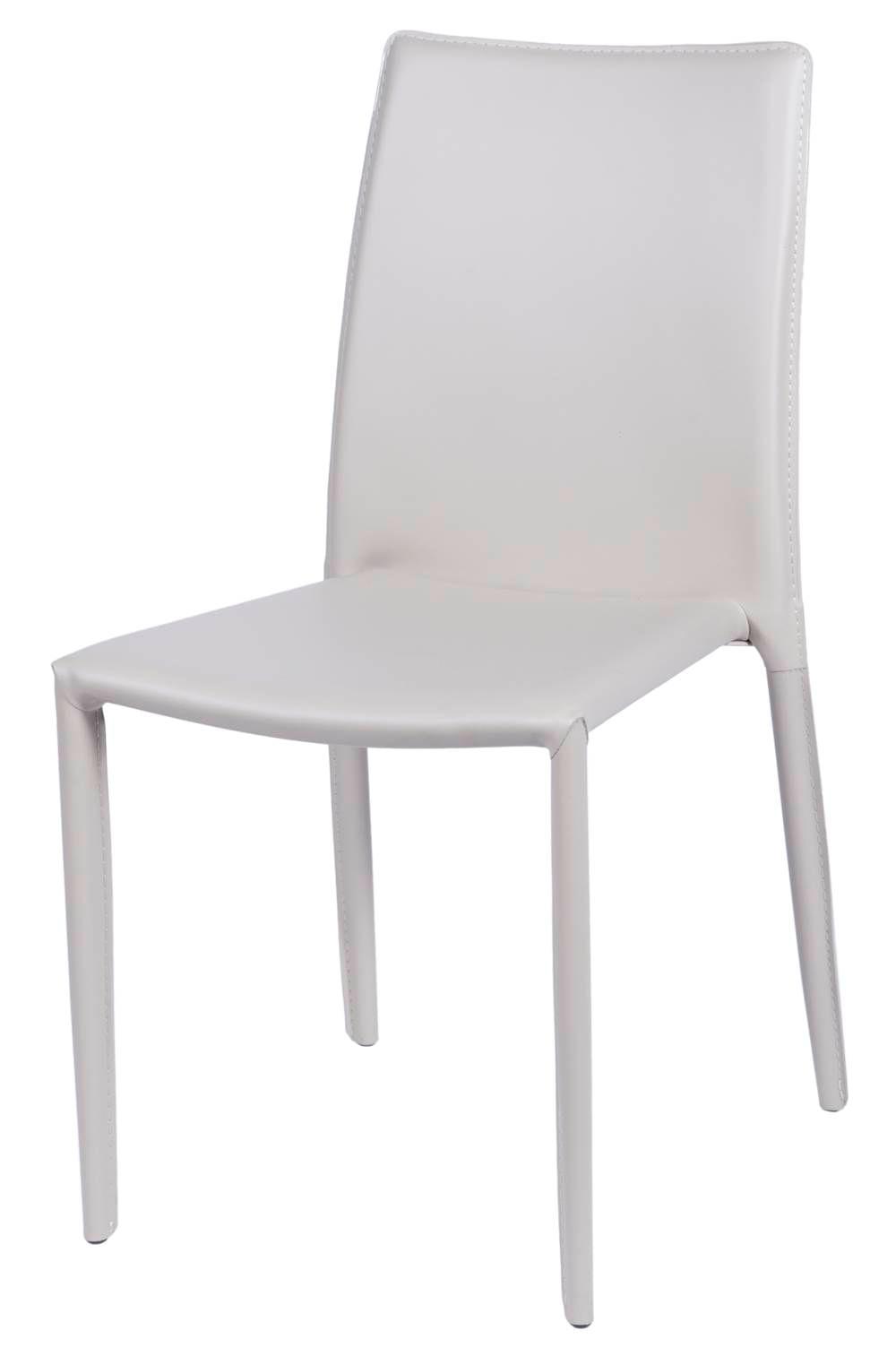 Cadeira Bali Estofada Couro Ecologico Bege - 22935