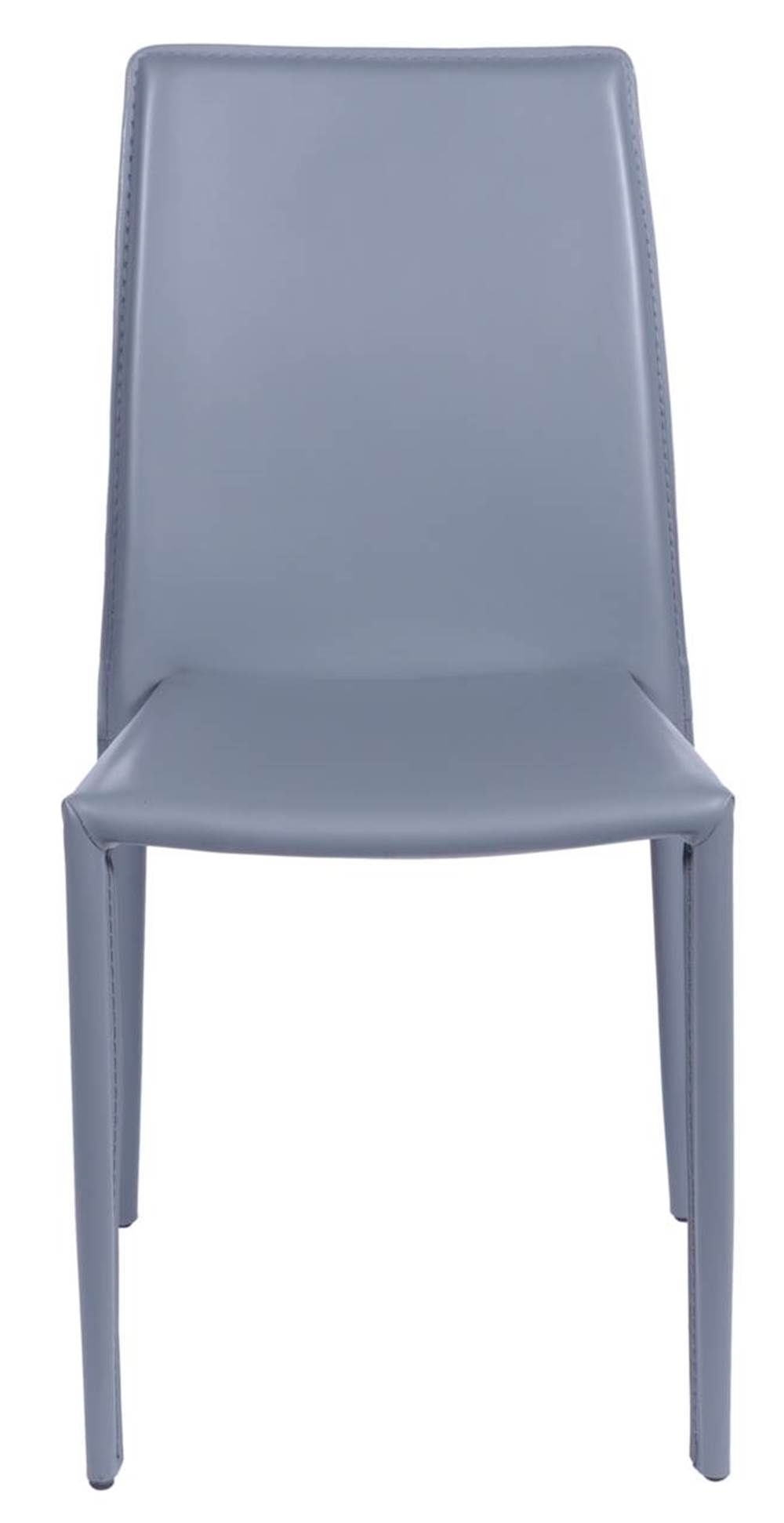 Cadeira Bali Estofada Couro Ecologico Cinza - 15003