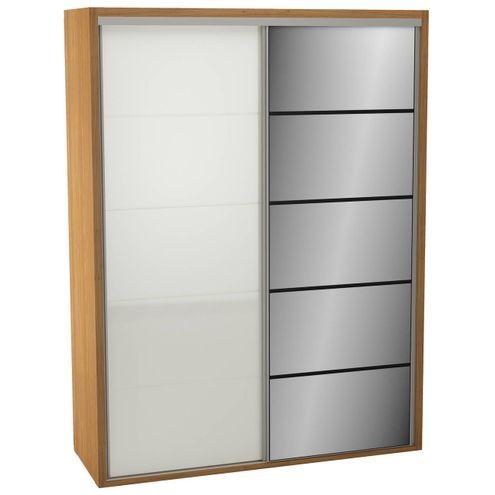 Roupeiro-2-Portas-de-Correr-180-MT-TW101E-Espelhada-cor-Freijo-com-Off-White---43823