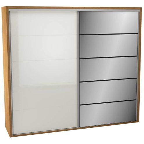 Roupeiro-2-Portas-de-Correr-263-MT-TW103E-Espelho-cor-Freijo-com-Off-White---43880
