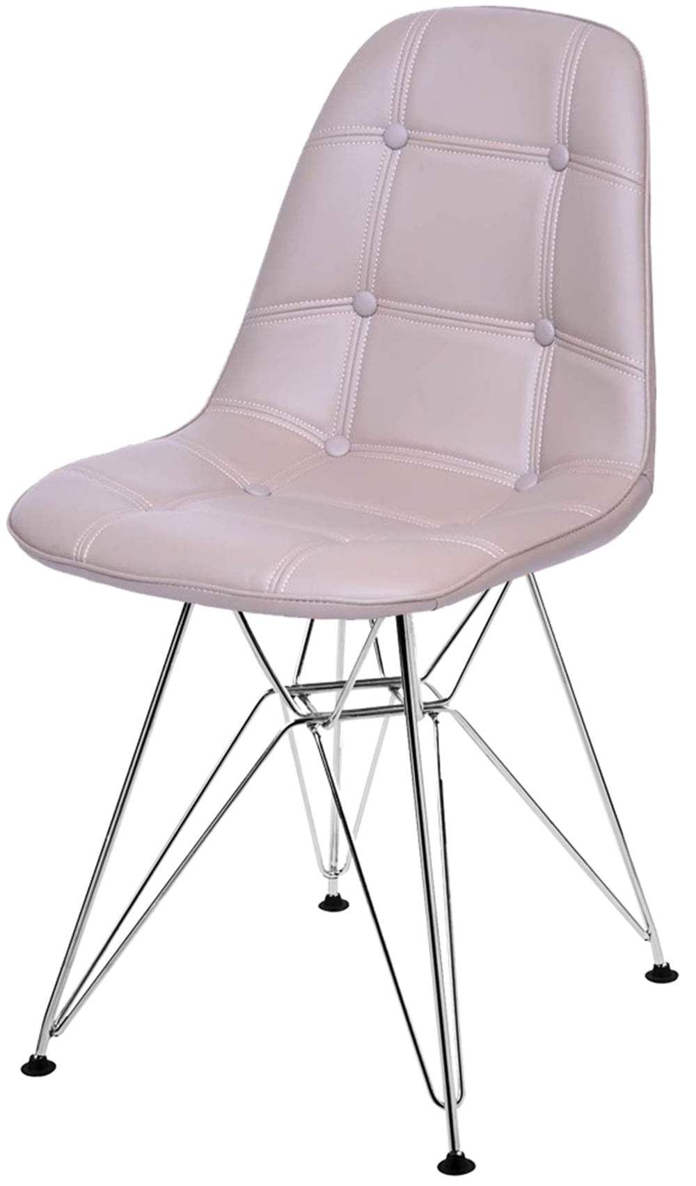 Cadeira Eames Botone Fendi Base Cromada - 43882