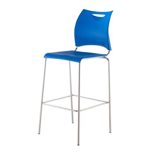Banqueta-One-Assento-em-Polipropileno-Azul-com-Base-Cromada---44122