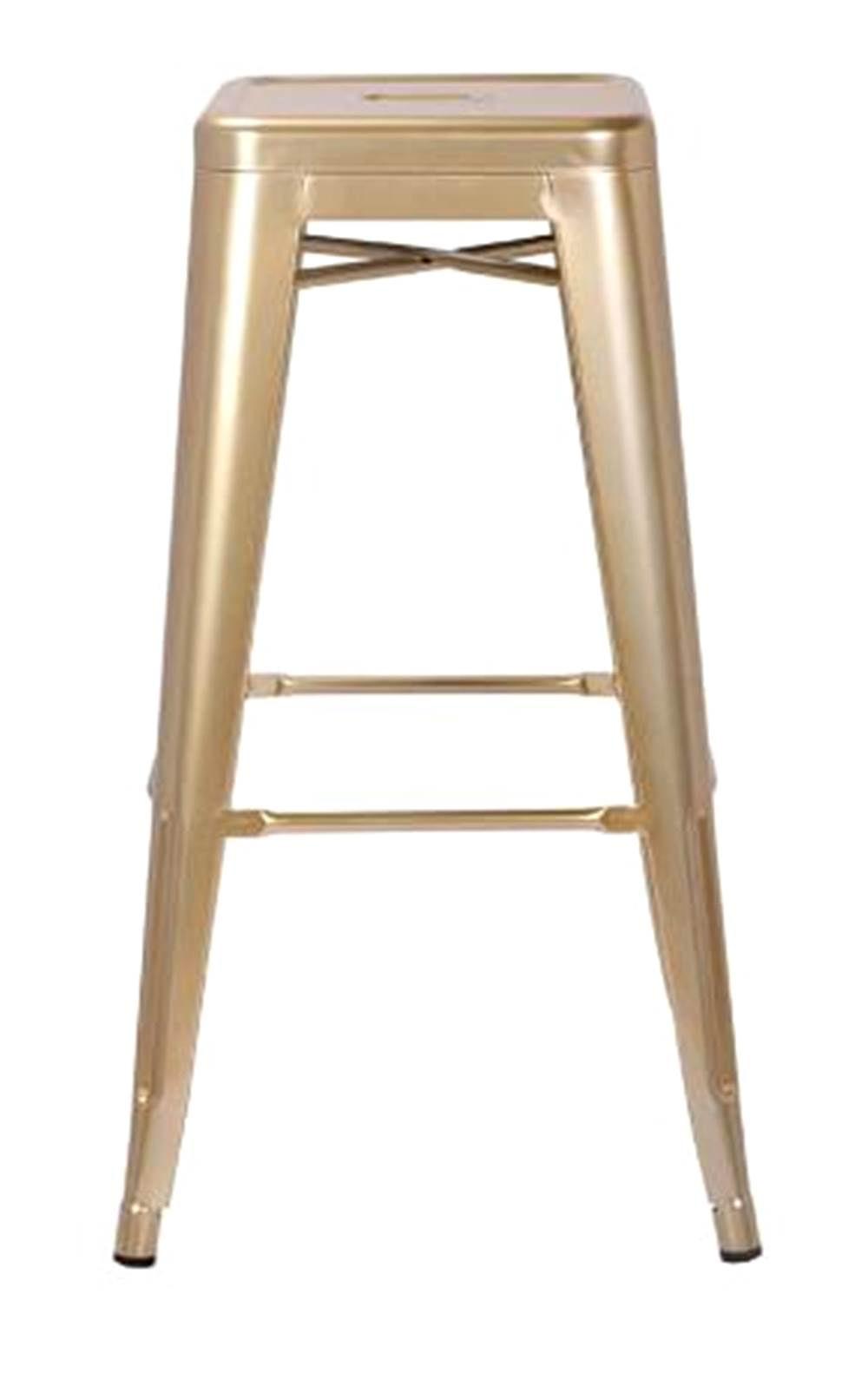 Banqueta Iron Tolix Dourado 77 cm (ALT) - 44067