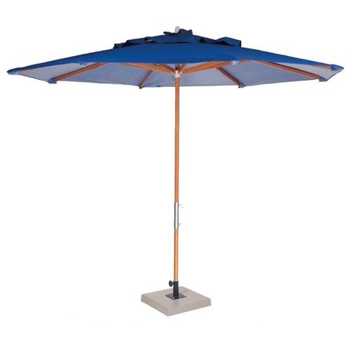 Ombrelone-Leblon-Azul-Marinho-em-Madeira-com-Base-em-Concreto-Central-200-MT--LARG--com-Tecido-Bagun---44242