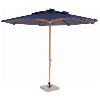 Ombrelone-Leblon-Azul-Royal-em-Madeira-com-Base-em-Concreto-Central-200-MT--LARG--com-Tecido-Bagun---44249