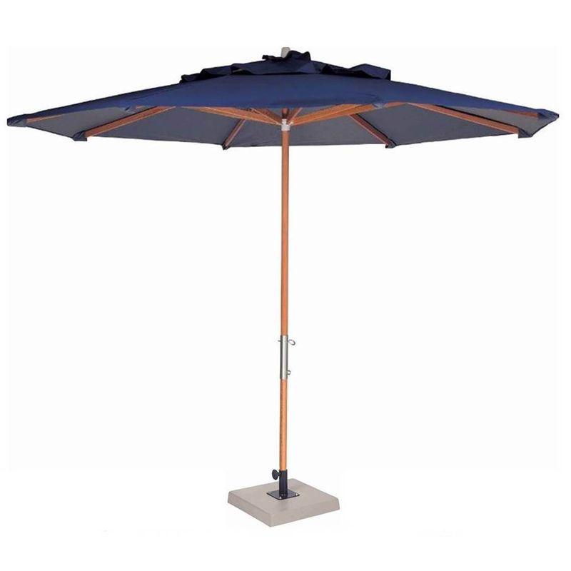 Ombrelone-Leblon-Azul-Royal-em-Madeira-com-Base-em-Concreto-Central-240-MT--LARG--com-Tecido-Bagun---44266