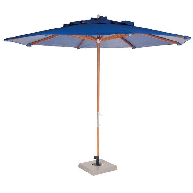 Ombrelone-Leblon-Azul-Marinho-em-Madeira-com-Base-em-Concreto-Central-290-MT--LARG--com-Tecido-Bagun---44283