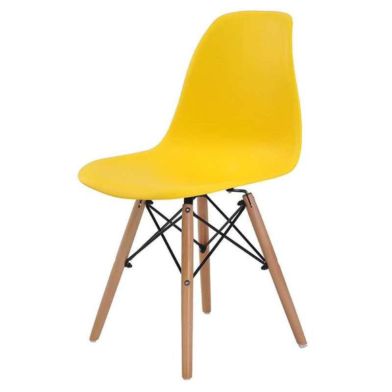 Cadeira-Eames-Eiffel-Polipropileno-Amarela-Base-Madeira---44156