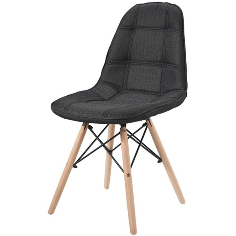 Cadeira-Eames-Eiffel-Linho-Preta-Base-Madeira