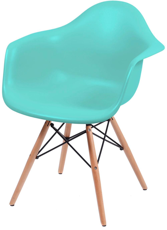 Cadeira Eames com Braco Base Madeira Tiffanny Fosco - 43634