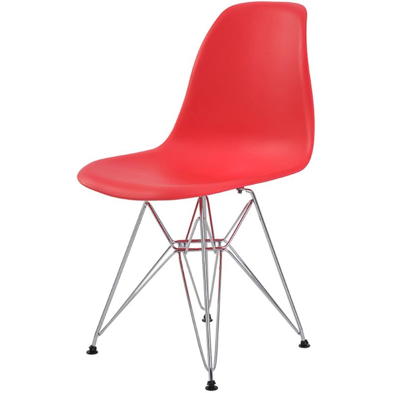Cadeira-Eames-Eiffel-PP-Vermelha-Base-Cromada