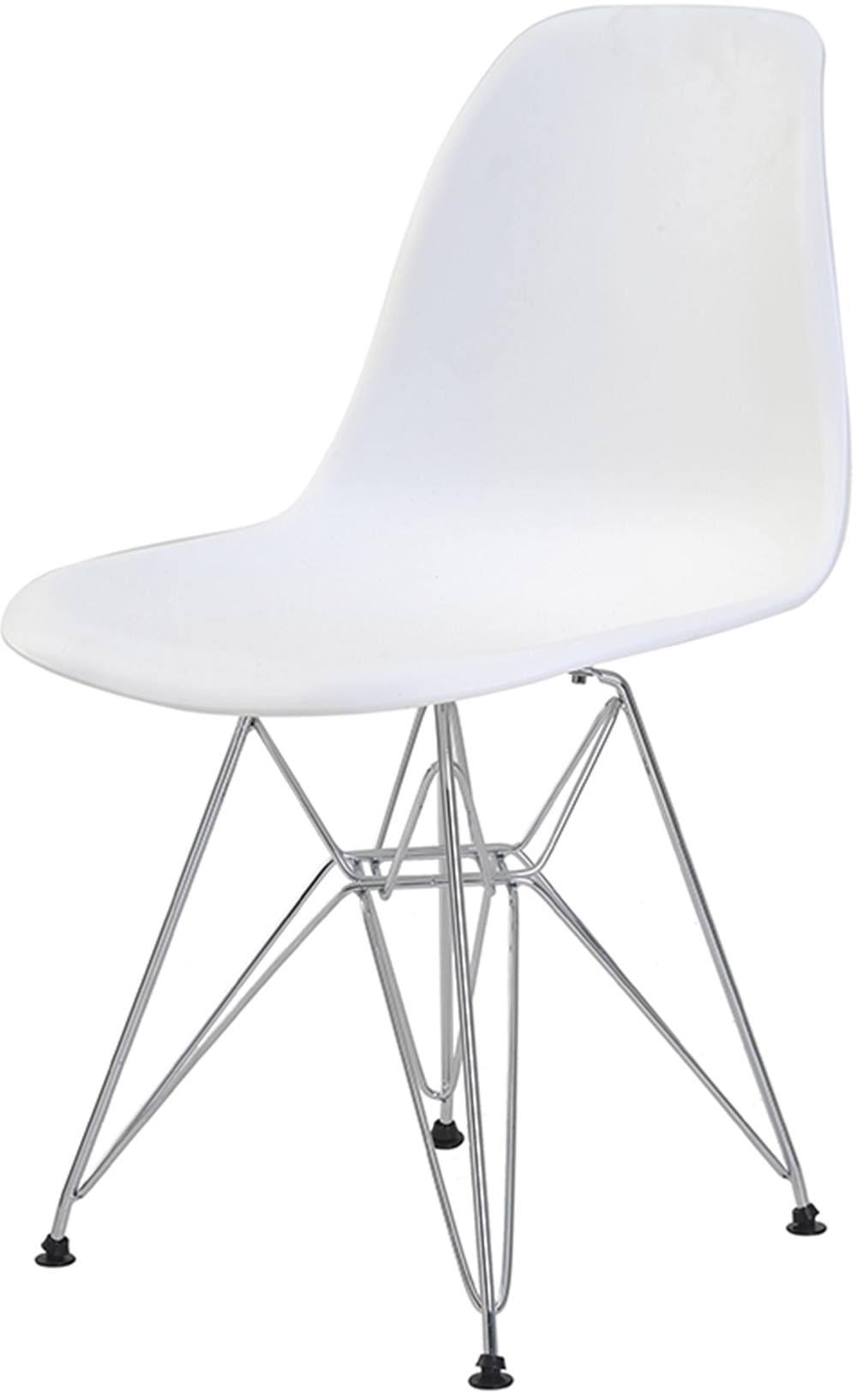 Cadeira Eames Eiffel PP Branca Base Cromada - 44169