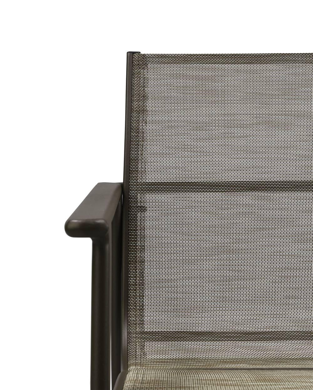 Cadeira Solano Assento em Tela Sintetica cor Cinza com Base Aluminio - 44545
