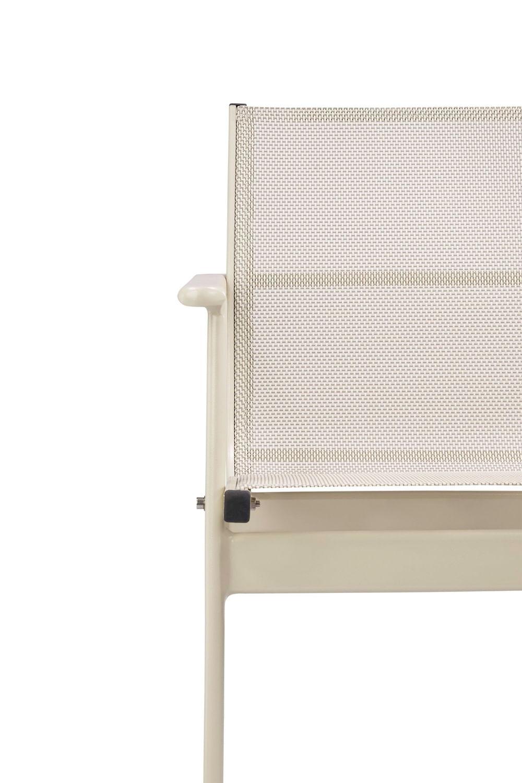 Cadeira Solano Assento em Tela Sintetica cor Branca com Base Aluminio - 44546