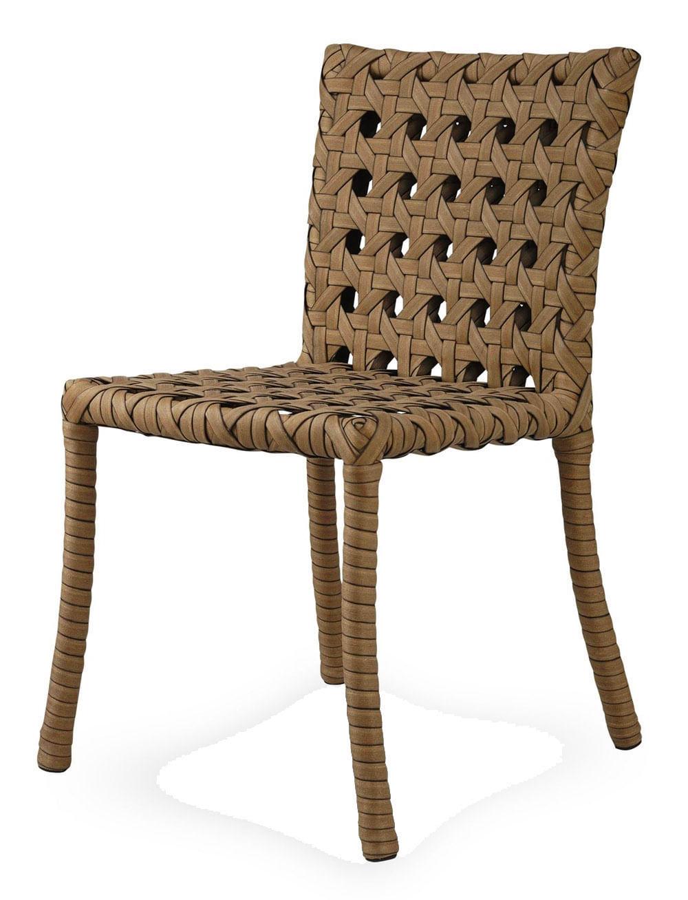 Cadeira Lone Estrutura Aluminio Revestido em Fibra Sintetica cor Madeira - 44544