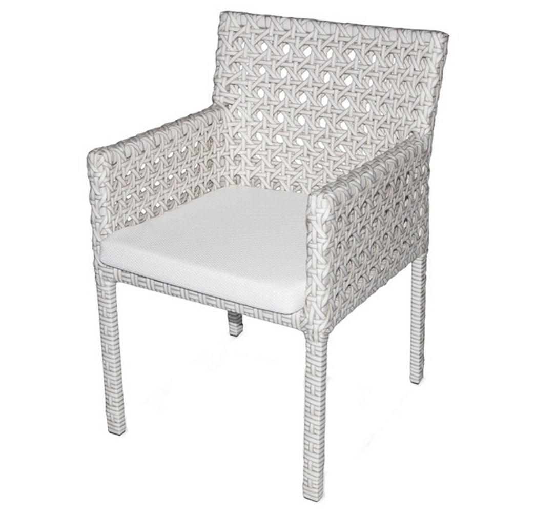 Cadeira Paradise Estrutura Aluminio Revestido em Fibra Sintetica cor Branco - 44549