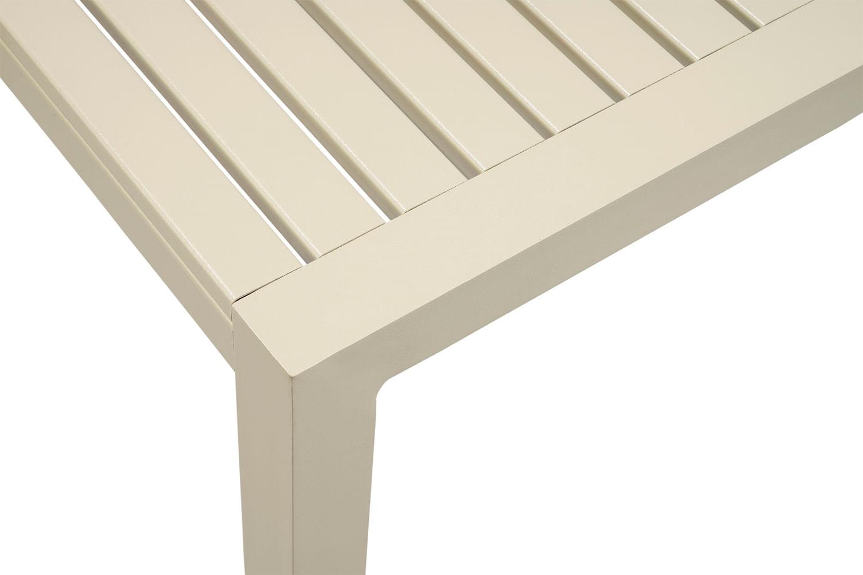 Mesa Jantar Quadrada Solano com Estrutura Aluminio cor Bege 89 cm (LARG) - 44582