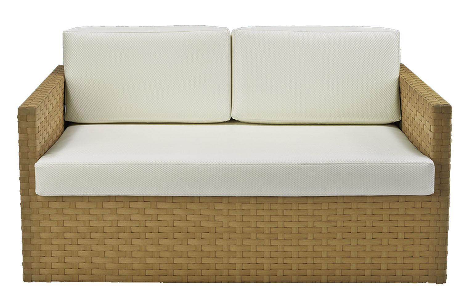 Sofa Corona 2 Lugares Estrutura Aluminio Revestido em Fibra cor Bege Madrid - 44655