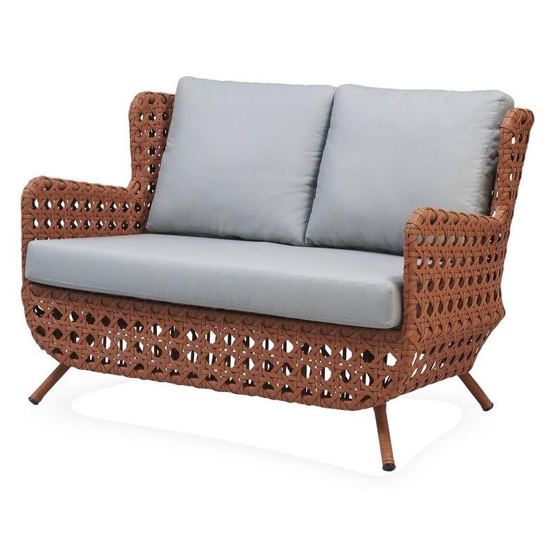 Sofa-Clara-2-Lugares-Estrutura-Aluminio-Revestido-em-Fibra-cor-Terra-Cota---44656