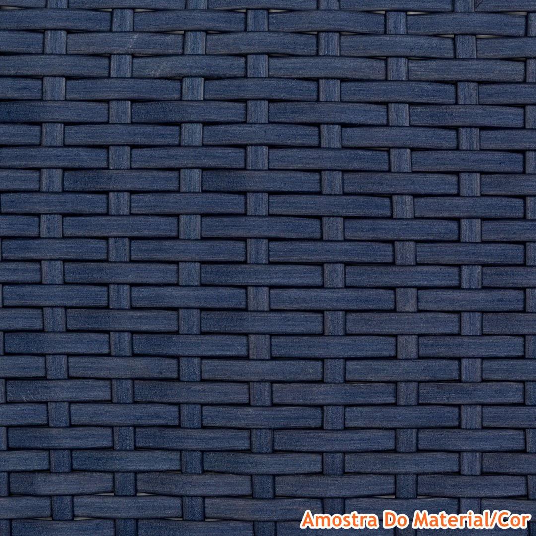 Mesa de Centro Corona Estrutura Aluminio Revestido em Fibra cor Azul Marrinho 1,00 MT (LARG) - 44600