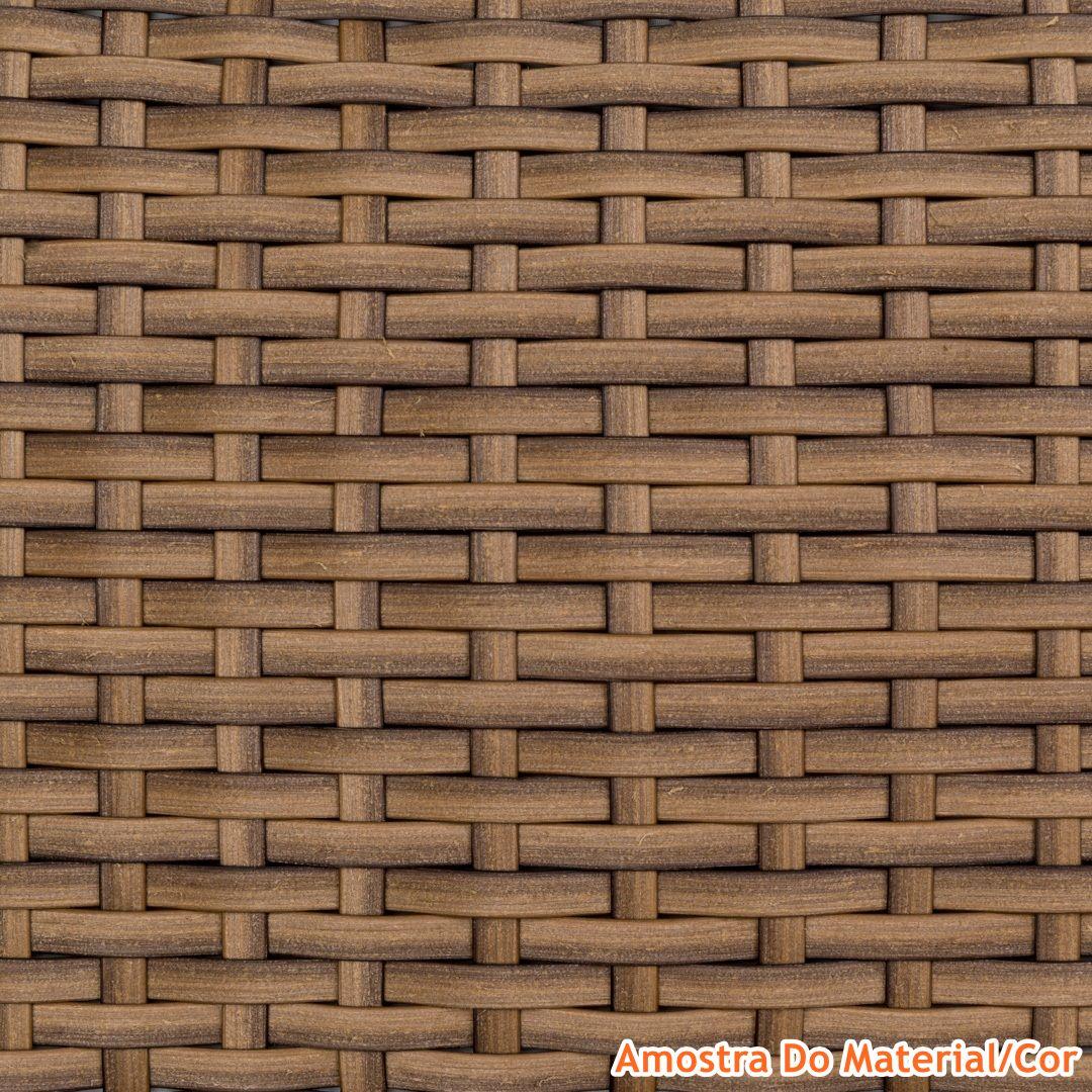 Sofa Ceres 2 Lugares Estrutura Aluminio Revestido em Fibra cor Madeira - 44654