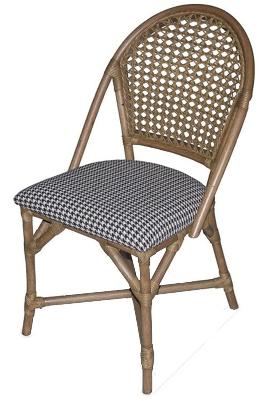 Cadeira Fultow Estrutura Madeira Apui Assento Estampa Pe de Galinha - 44715