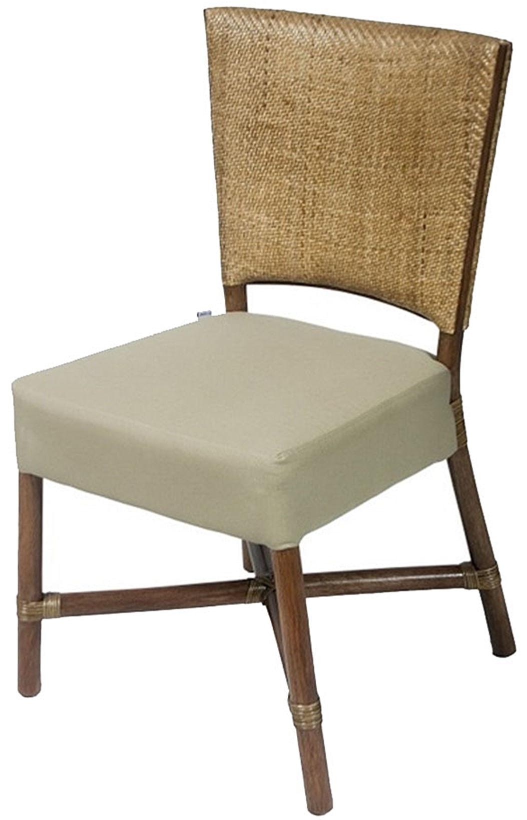 Cadeira Flint Assento cor Fendi com Base Madeira Apui - 44722