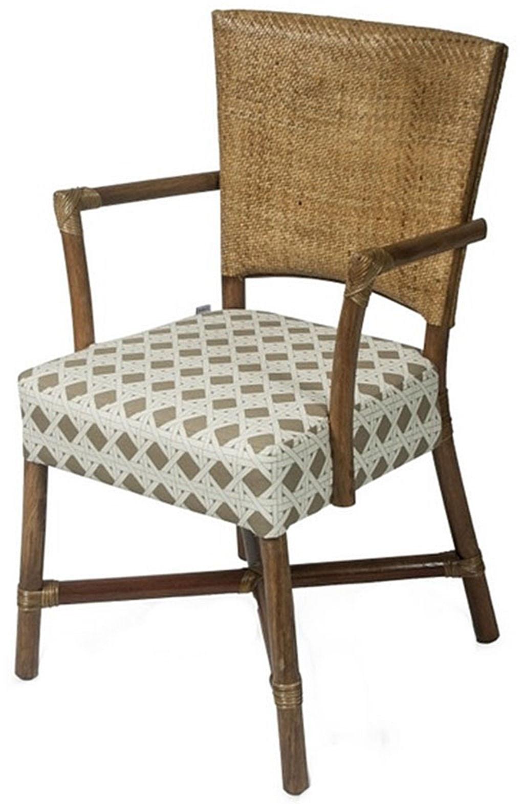 Cadeira Flint com Braco Assento Sarja Sextavada com Base Madeira Apui - 44724