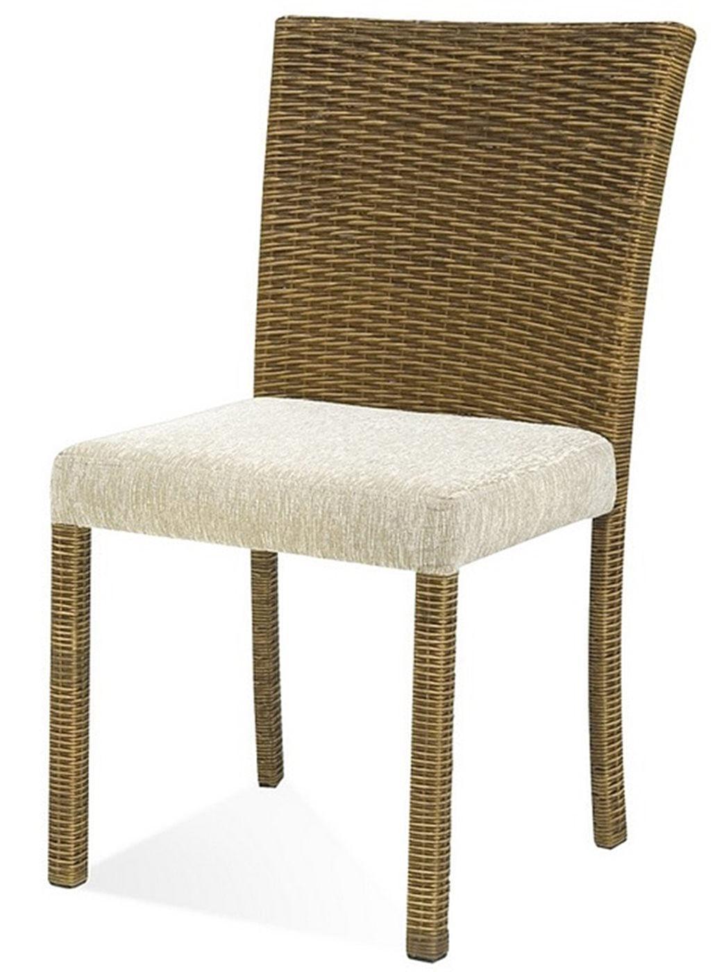 Cadeira Canton Assento cor Branco com Base Aluminio Revestido em Junco - 44730